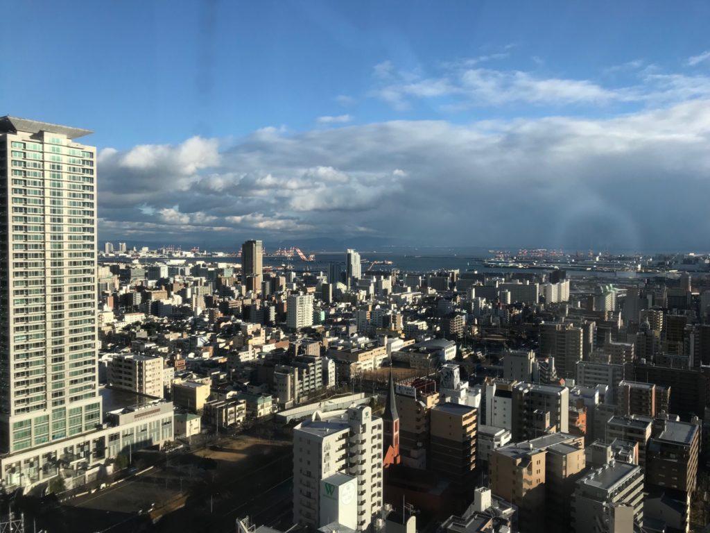 ANAクラウンプラザホテル神戸の客室からの眺め