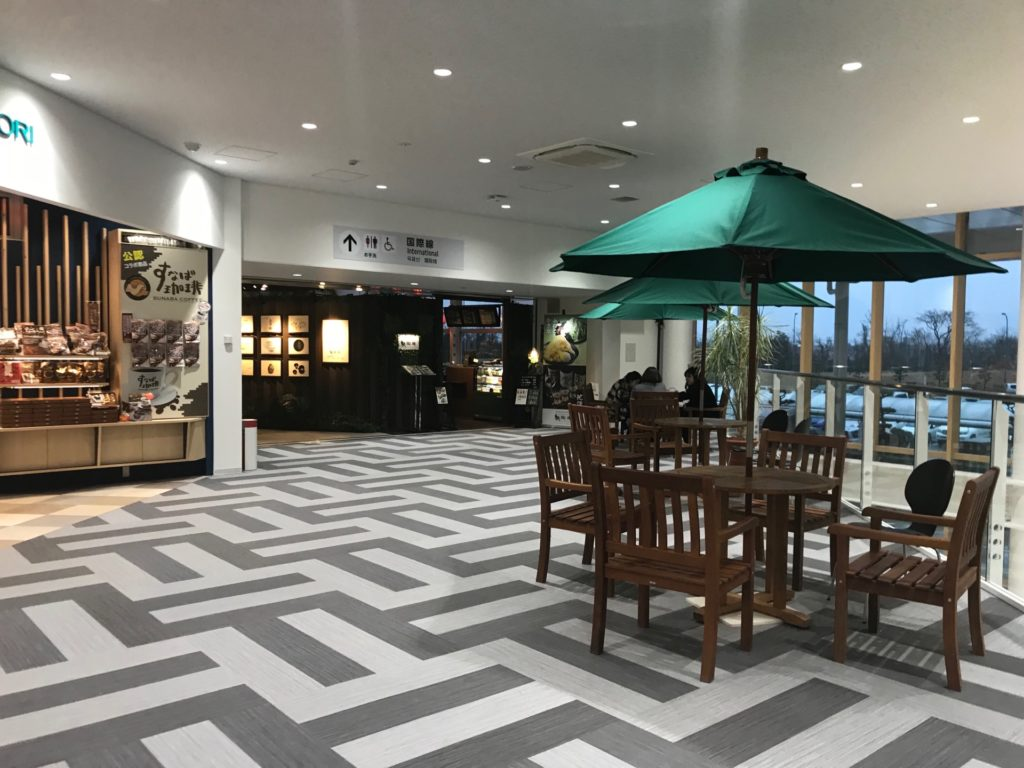 鳥取空港の2階飲食店フロア