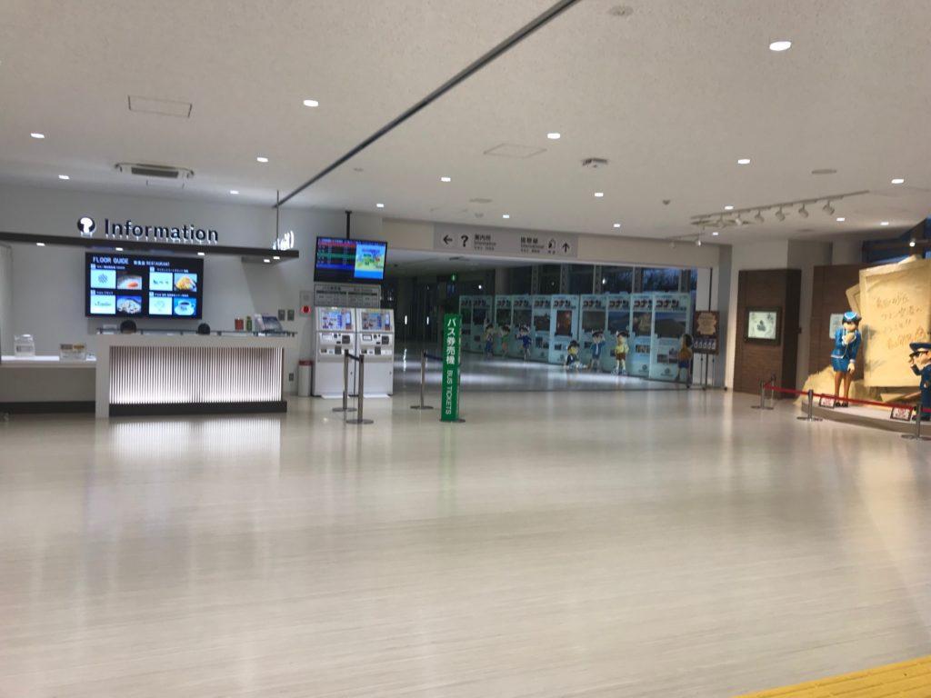 鳥取空港の到着フロア