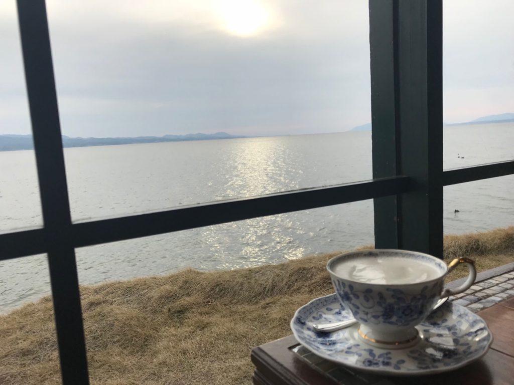 珈琲館から宍道湖の眺め