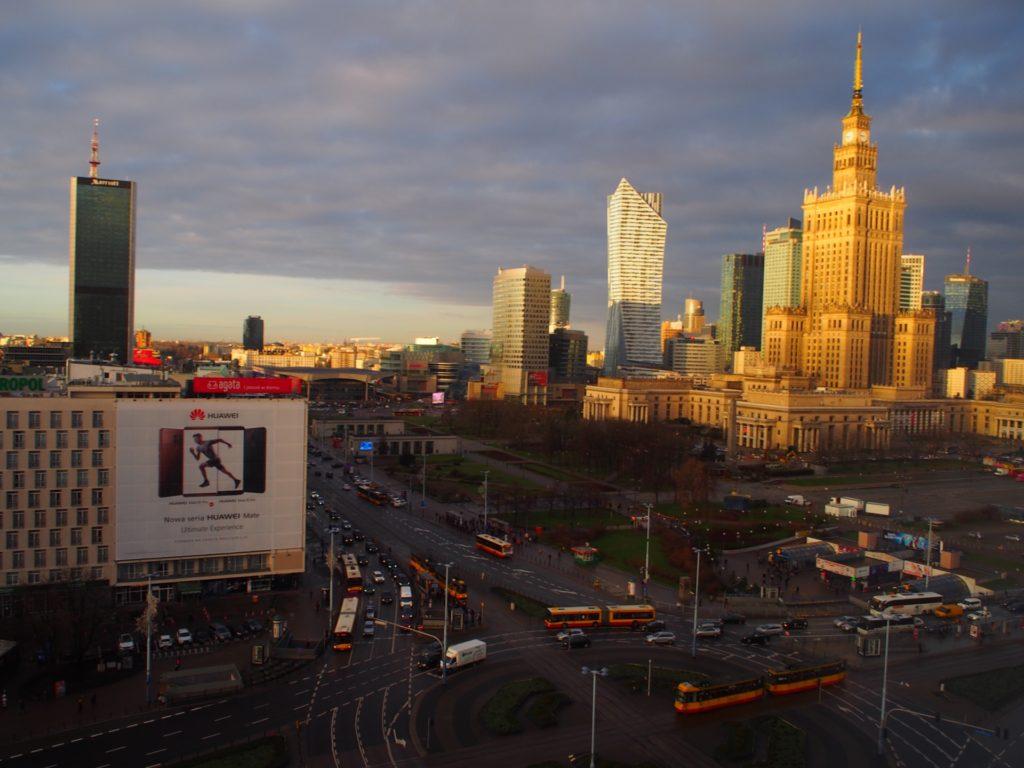 ノボテルワルシャワセントラムホテルの客室窓からの景色です。