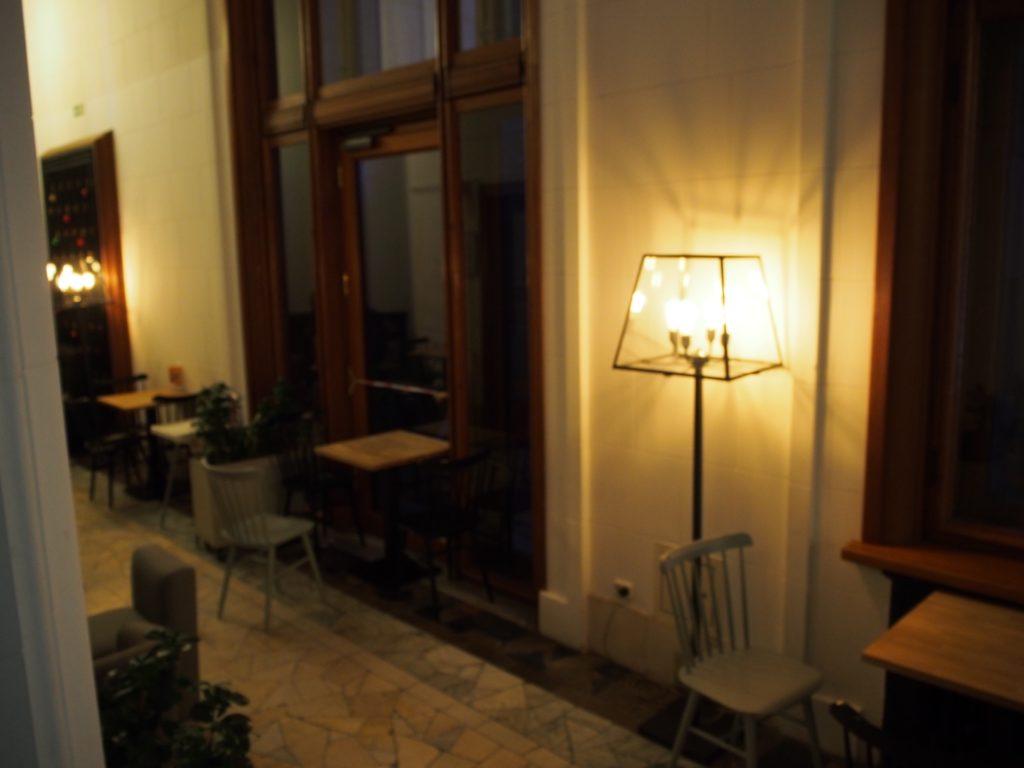 文化科学宮殿の展望フロアにあるカフェ