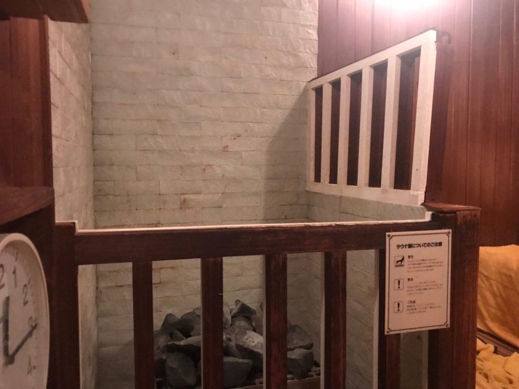 琵琶湖ホテルの「瑠璃温泉 るりの湯」のサウナ