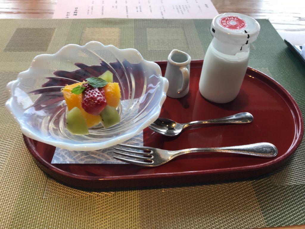 琵琶湖ホテルのレストラン「日本料理おおみ」のデザート