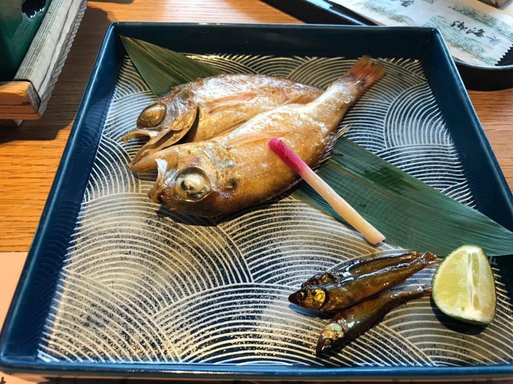 琵琶湖ホテルのレストラン「日本料理おおみ」ののどぐろ