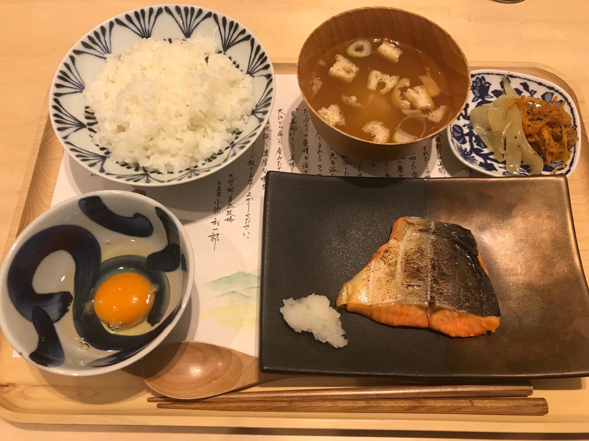 大江ノ里自然牧場の焼き鮭定食
