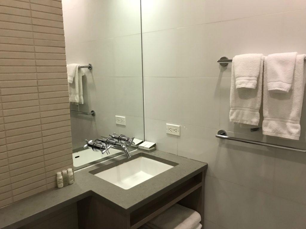 hotel Indigo Brooklynのスタンダードルームの洗面台