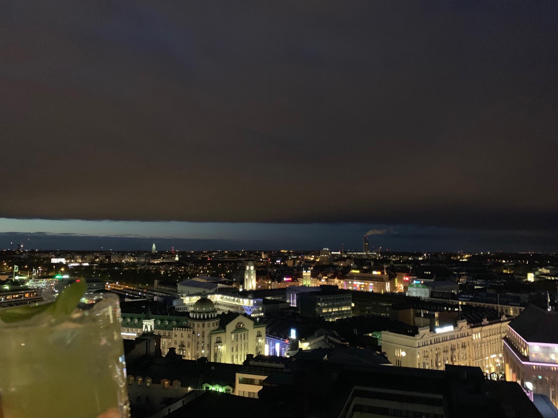 ヘルシンキのアテリエ・バー からの眺望