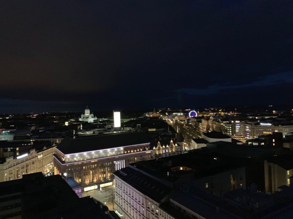 アテリエ・バーのテラス席からの眺望