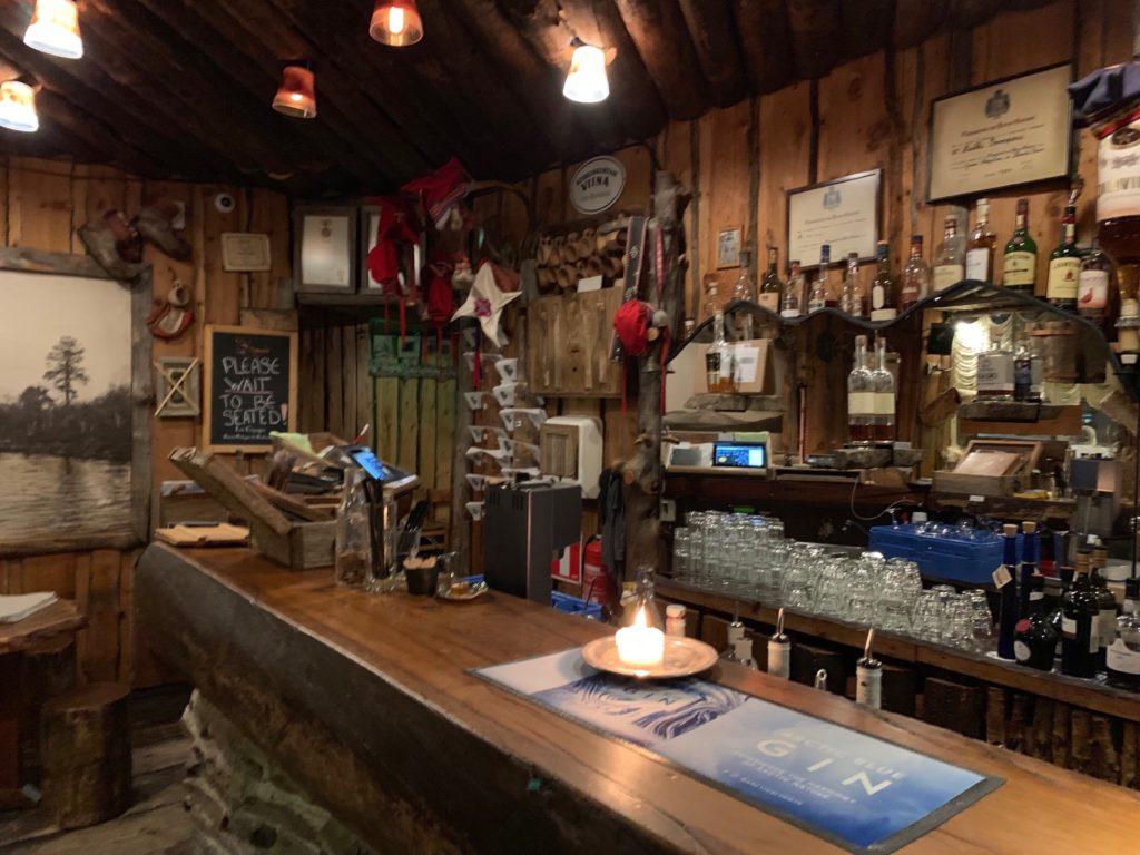 『Lappi Ravintola』の店内のバースペース