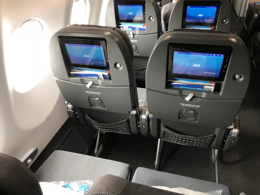 スカンジナビア航空(SK903)のエコノミークラス座席