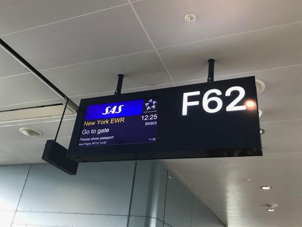 スカンジナビア航空(SK903)搭乗ゲート
