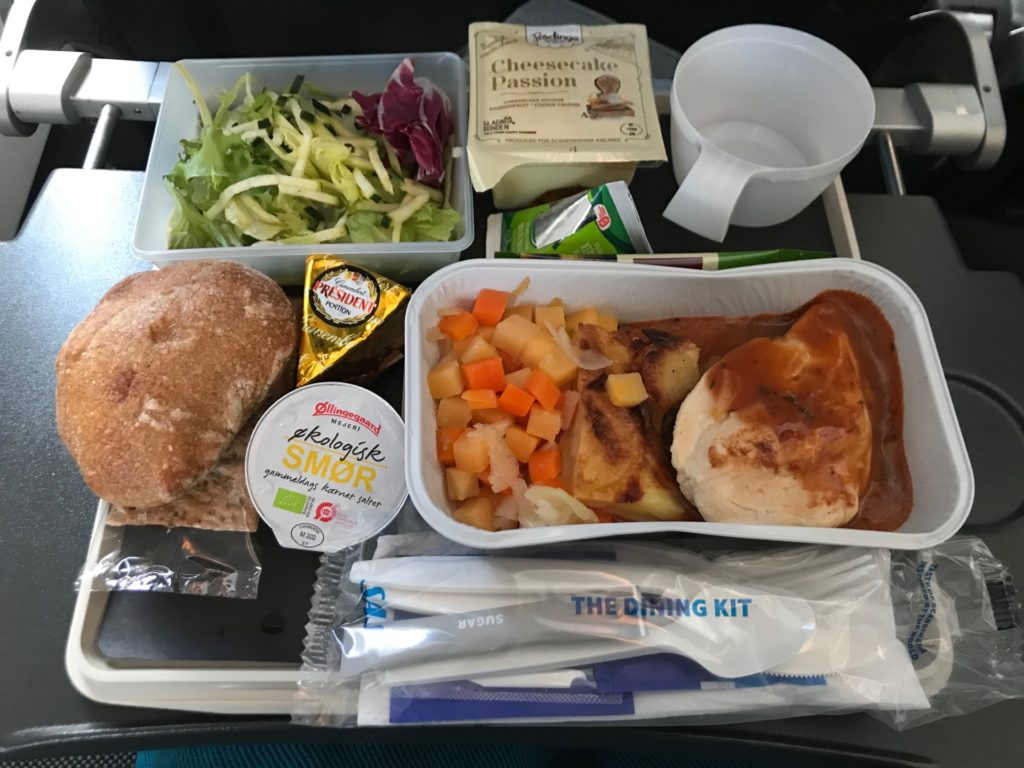 スカンジナビア航空(SK903)の機内食
