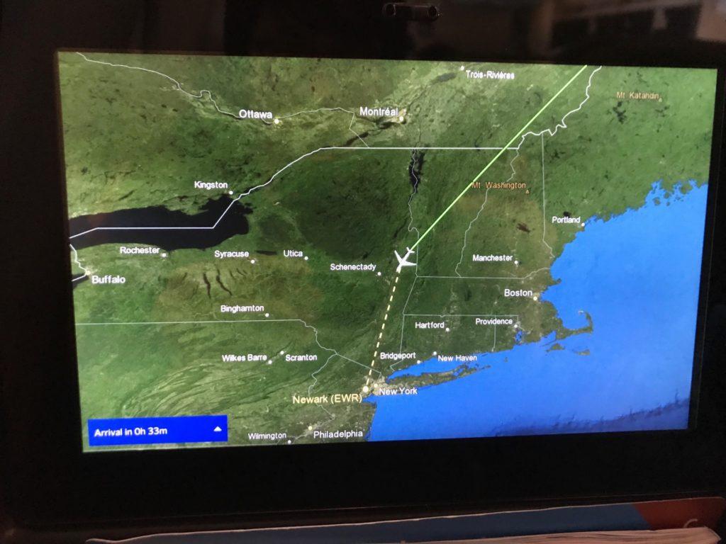 スカンジナビア航空(SK903)のパーソナルモニター(路線図)