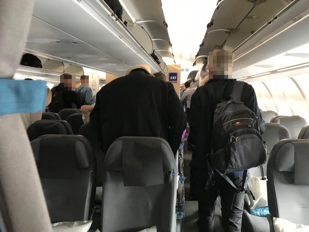 スカンジナビア航空(SK903)の機内