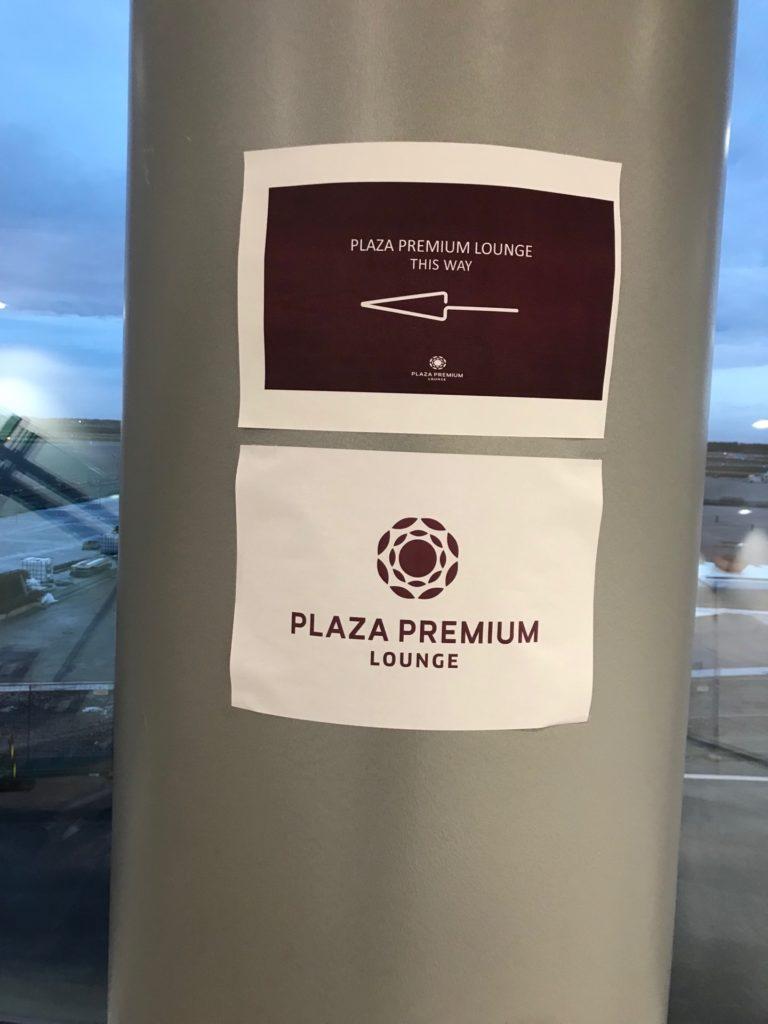 Plaza Premium Loungeの場所を示す表示