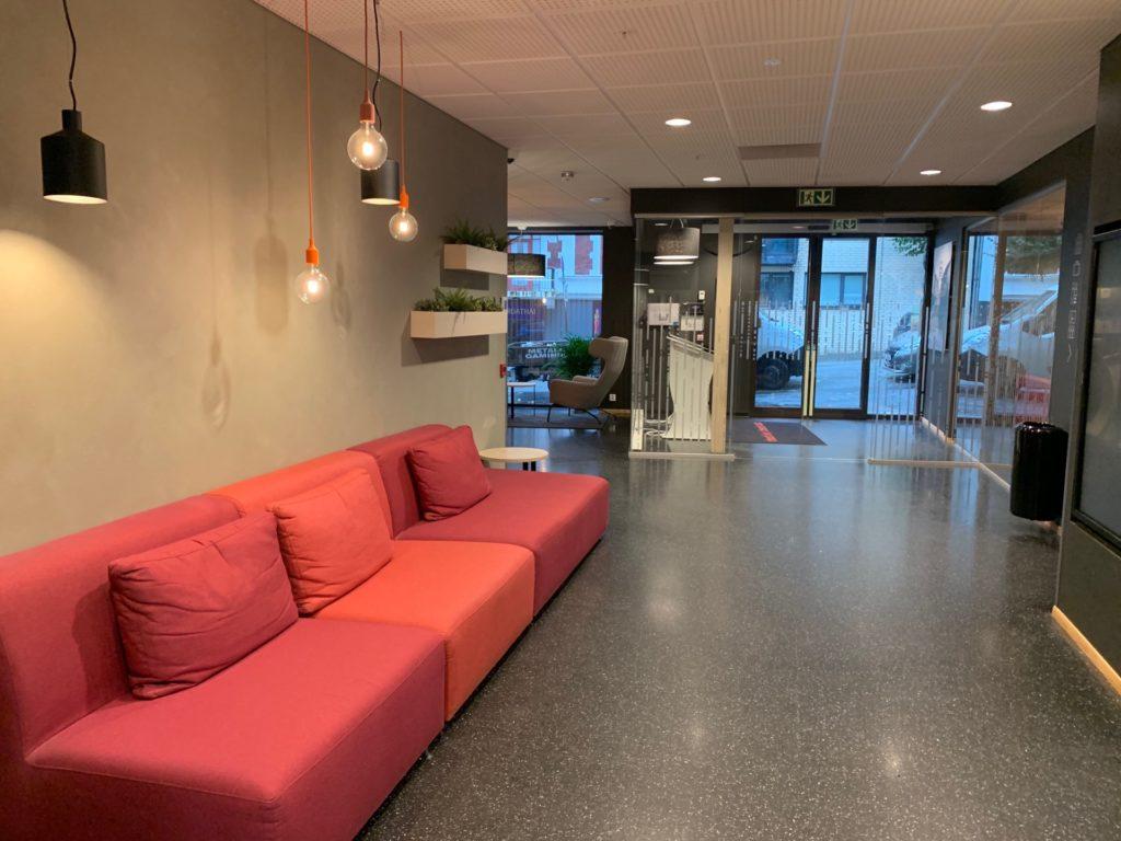 シティボックスベルゲンの1階ロビー