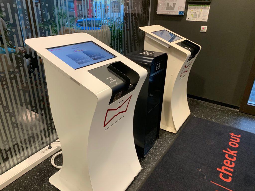 シティボックスベルゲンのチェックイン・アウト機械