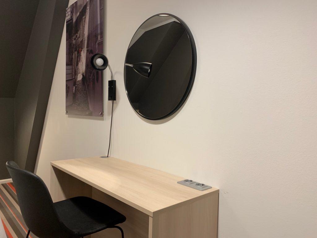 シティボックスベルゲンの客室のデスクスペース