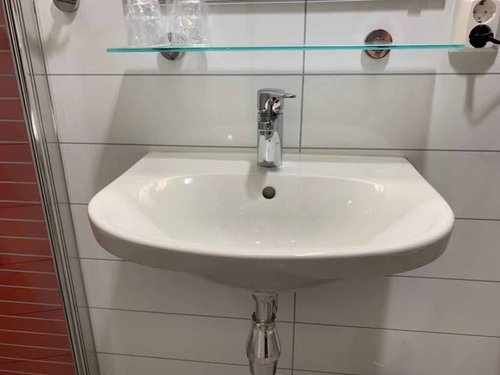 シティボックスベルゲンの客室の洗面スペース