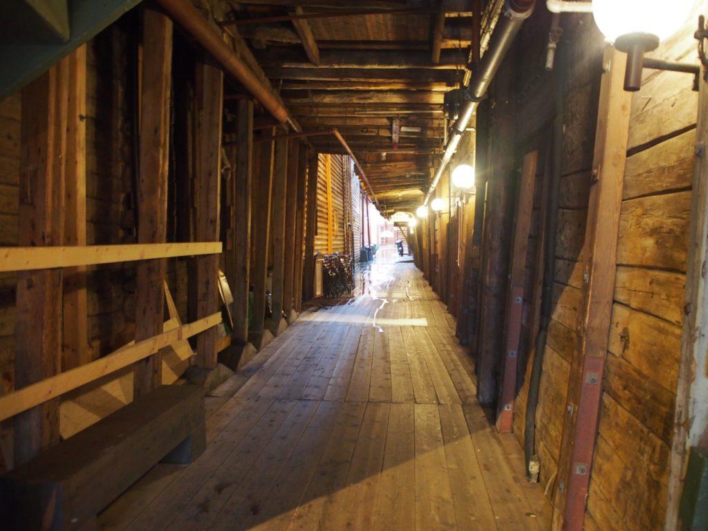 世界遺産・ブリュッゲンの旧倉庫内部