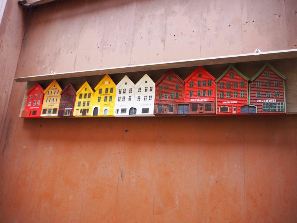 世界遺産・ブリュッゲンの旧倉庫群に飾られているミニチュア