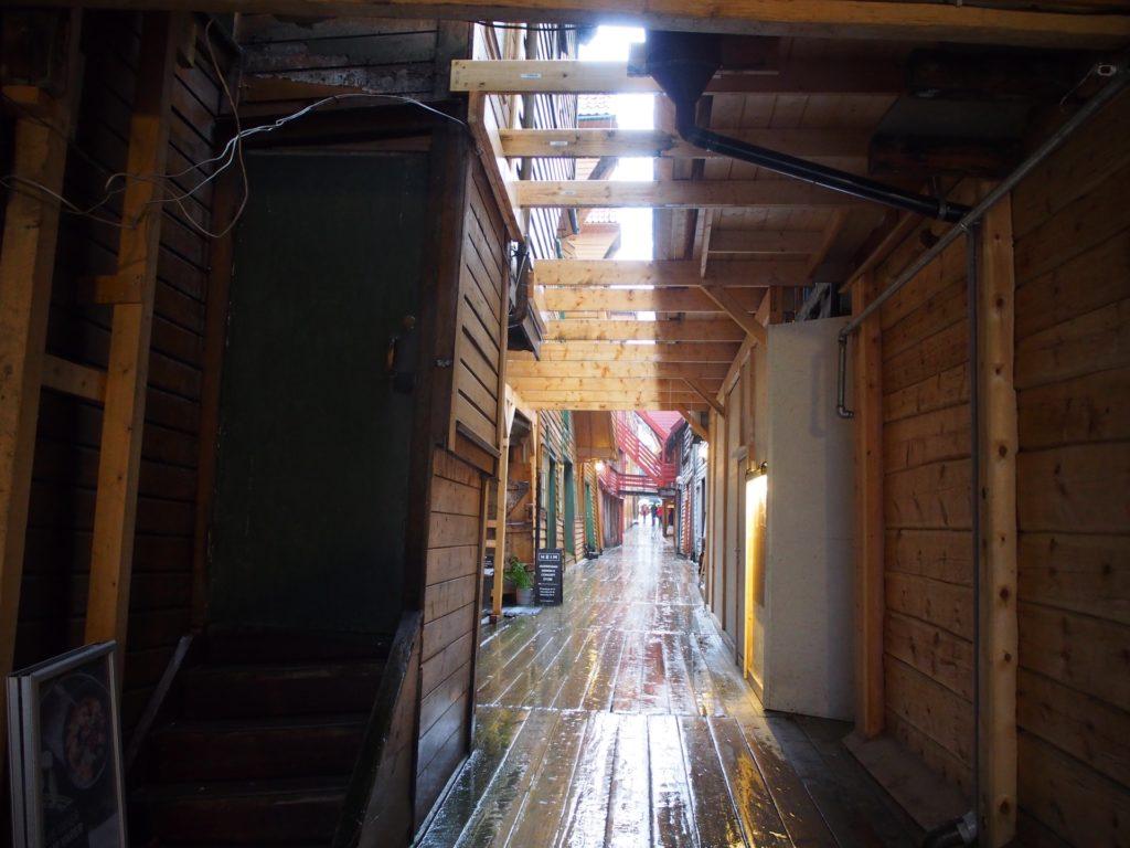 世界遺産・ブリュッゲンの旧倉庫群の内部