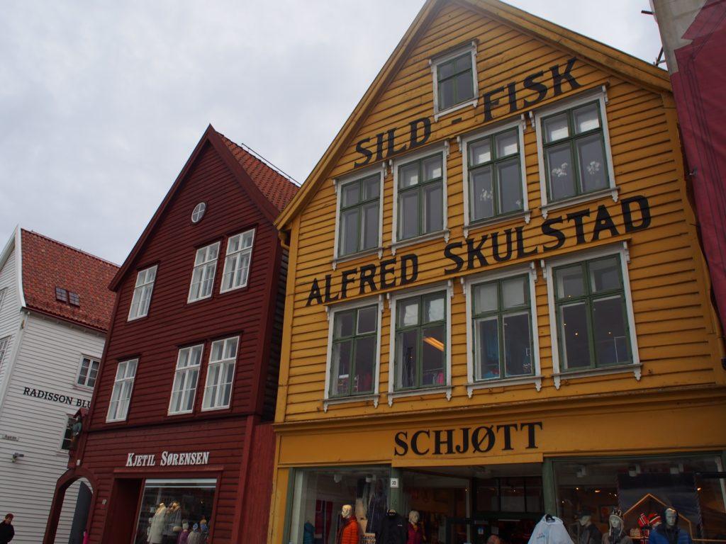 世界遺産・ブリュッゲンの旧倉庫群