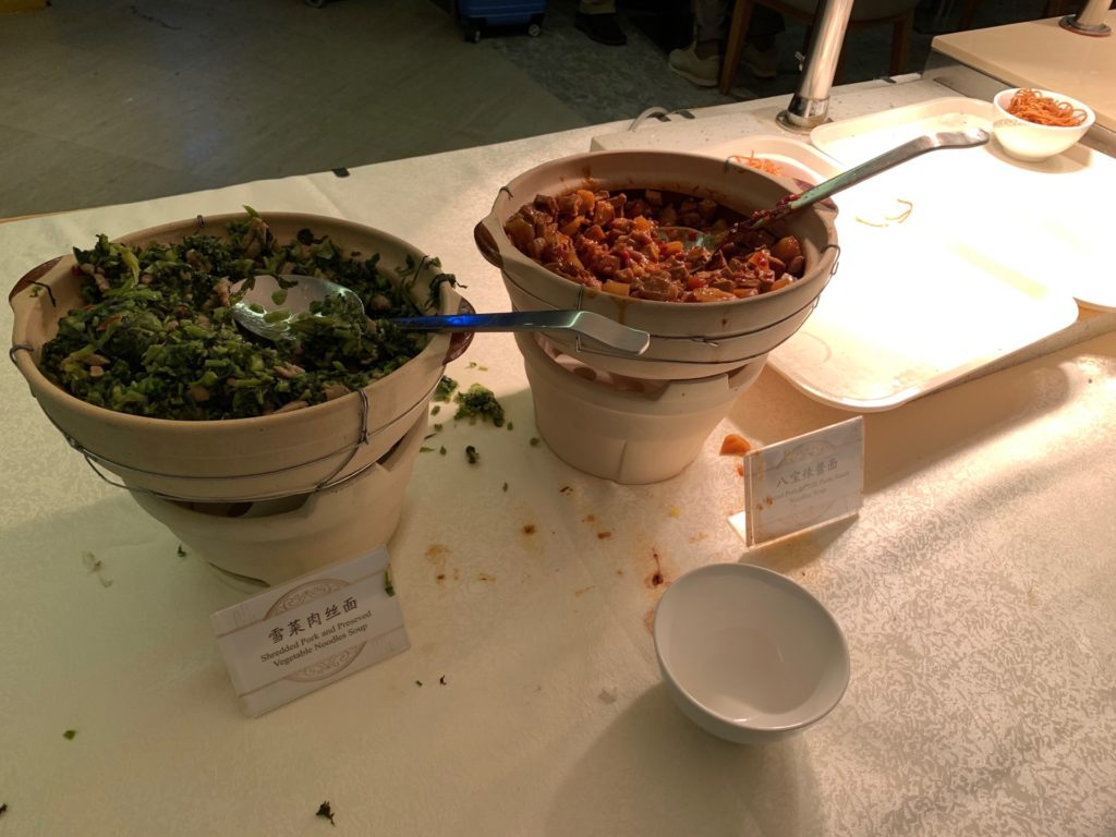 中国国際航空ラウンジ(No.71 ラウンジ)の料理