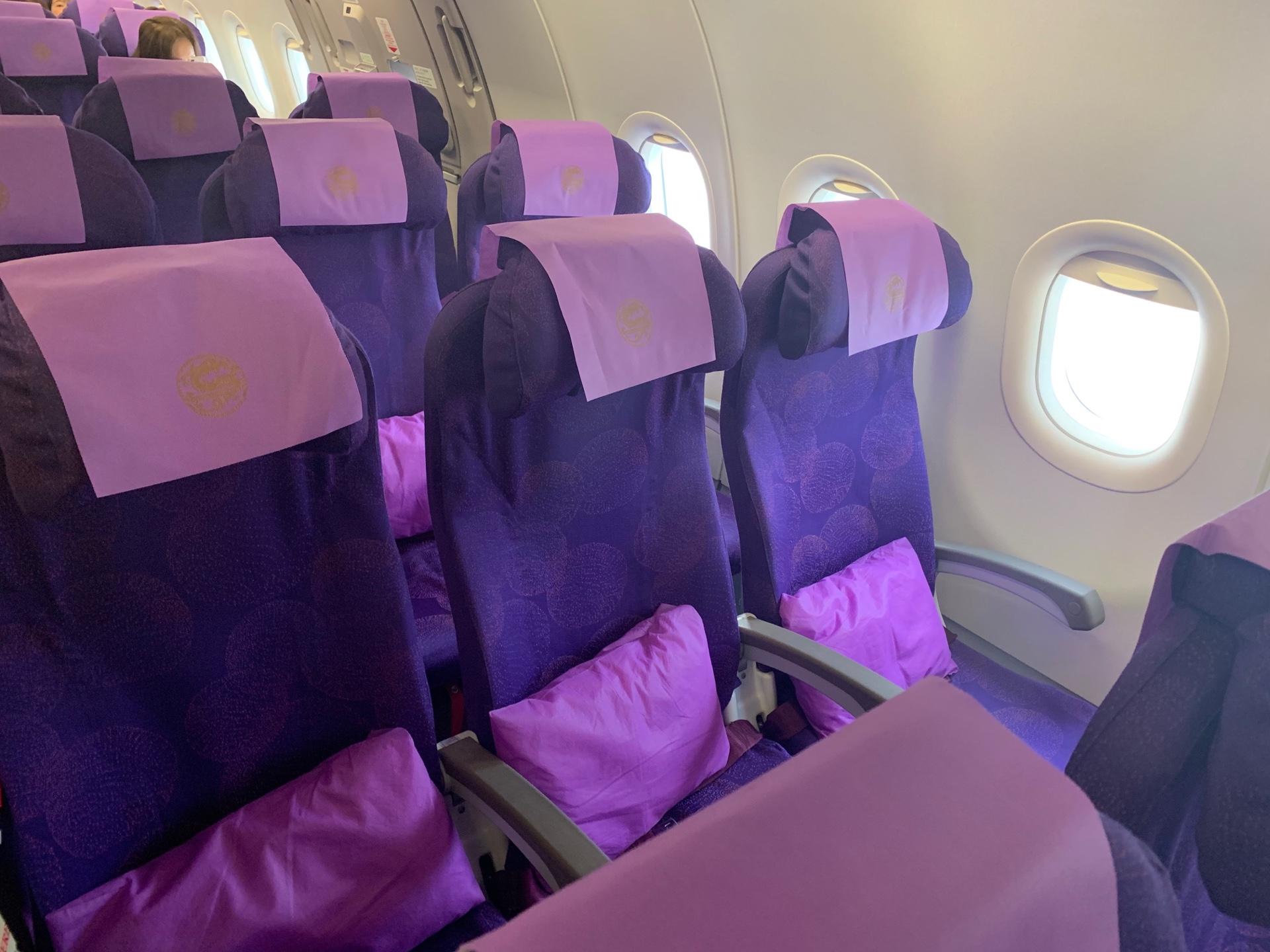 吉祥航空(エコノミークラス)座席