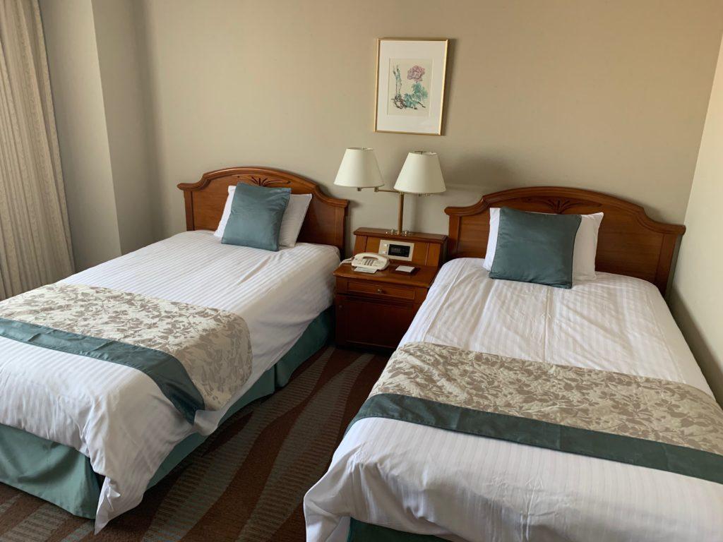 ホテルプラザ神戸の客室(ツインルーム)