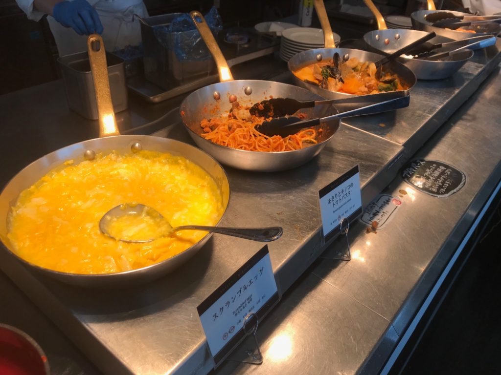 ホテルプラザ神戸のスマイリーネプチューンのプレミアム朝食の料理