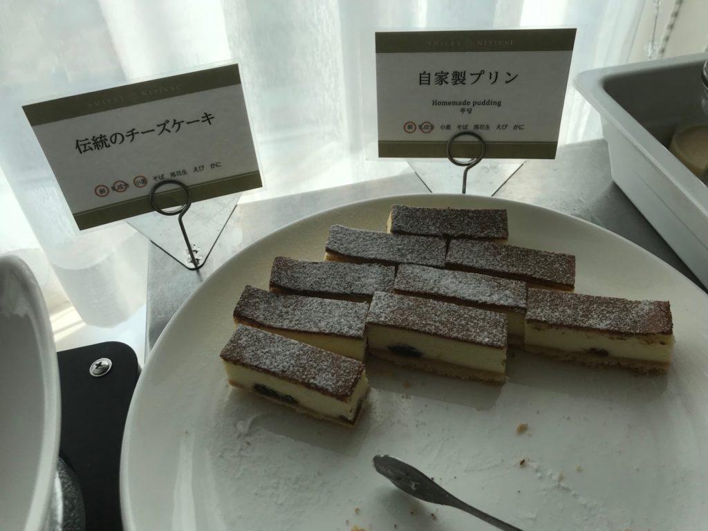ホテルプラザ神戸のスマイリーネプチューンのプレミアム朝食のデザート系