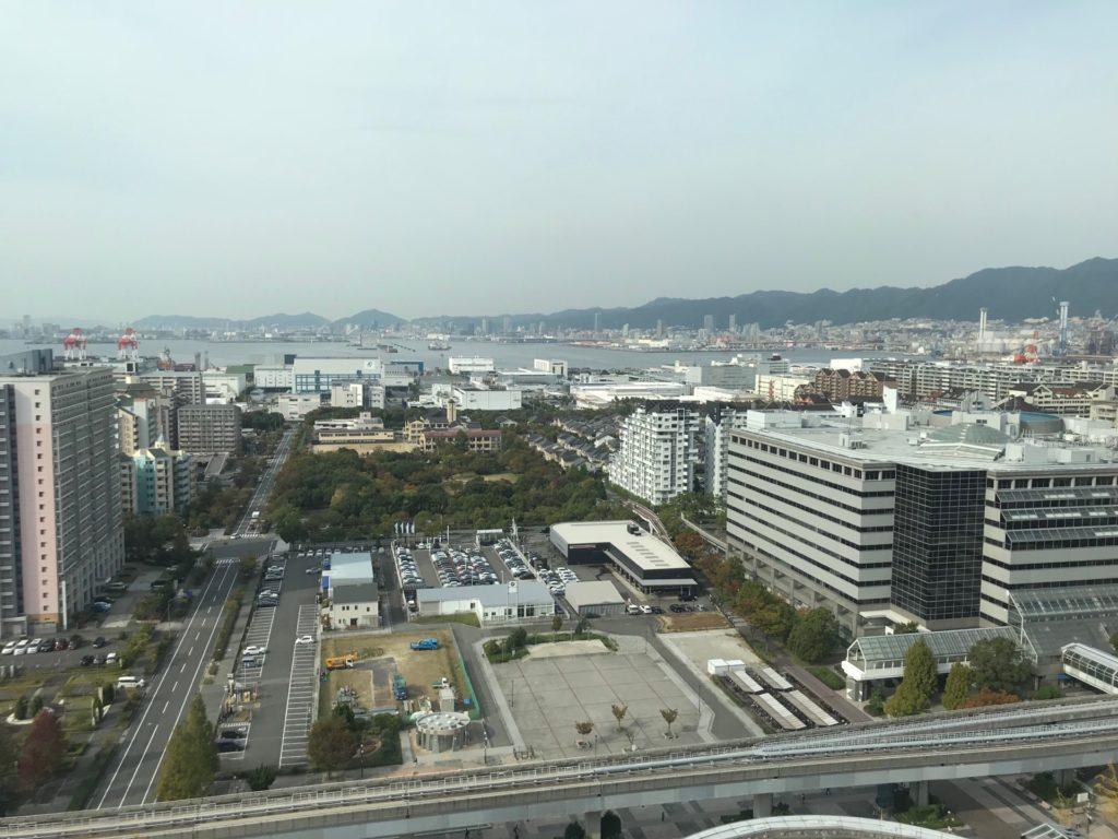 ホテルプラザ神戸のスマイリーネプチューンのプレミアム朝食会場からの景色