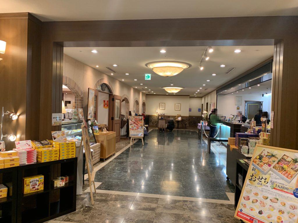 ホテルプラザ神戸のフロント