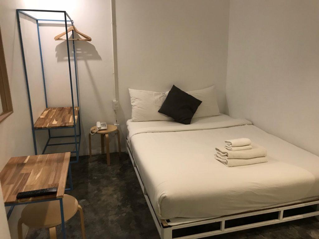Mini S Hotel の客室のベッド