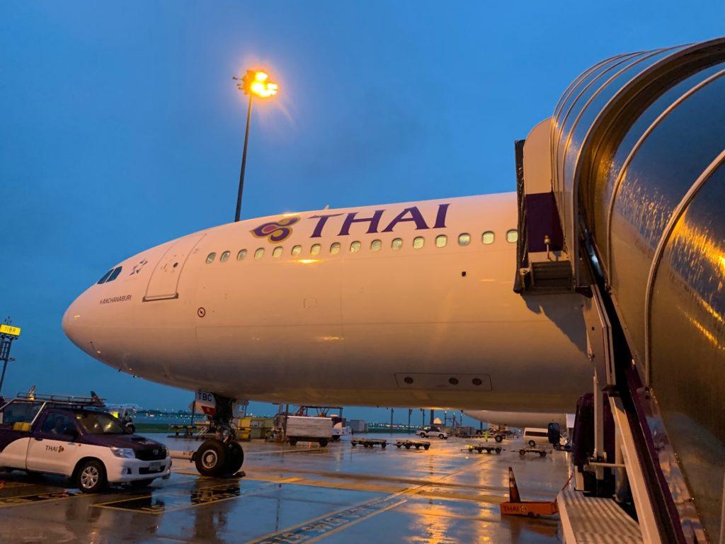 タイ国際航空「スワンナプーム→ヴィエンチャン」(TG574)の機体