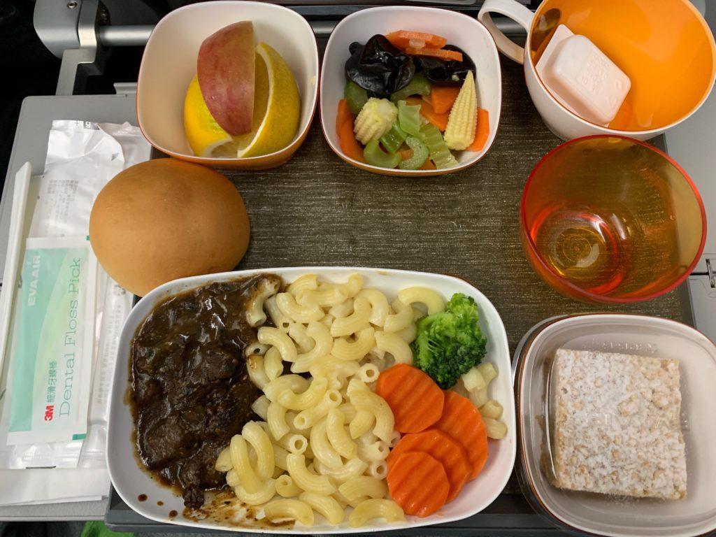 エバー航空(BR197)エコノミークラスの機内食