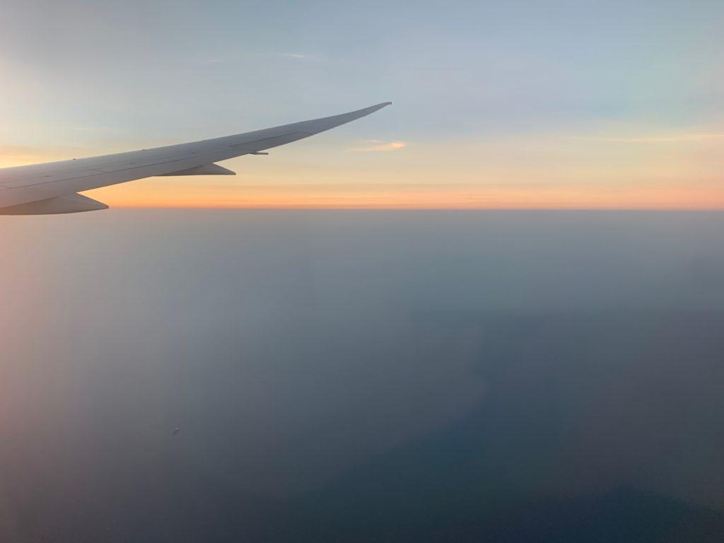 エバー航空(BR197)エコノミークラスからの台湾の景色