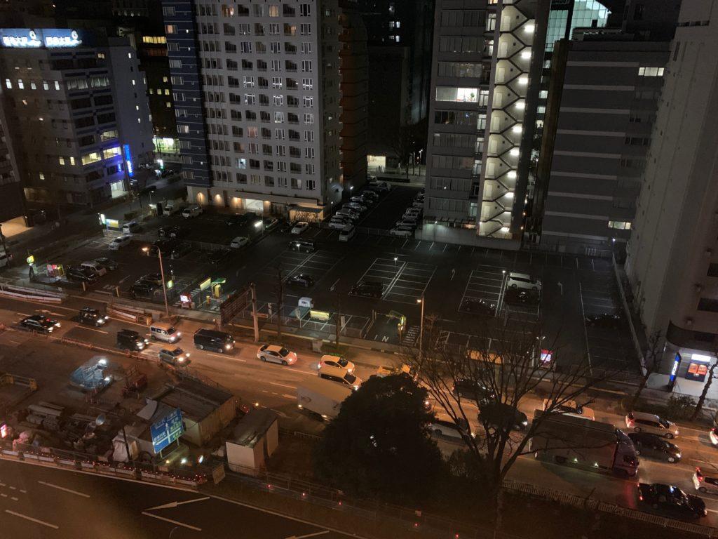 新横浜プリンスホテルのシングルルームからの眺望