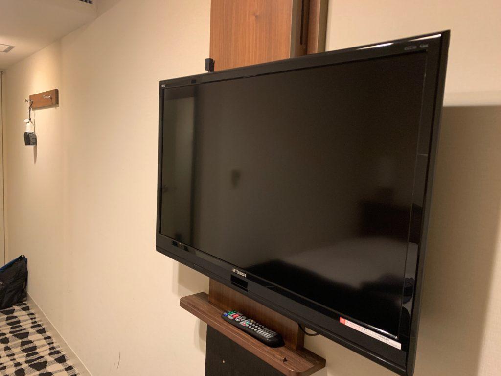 アパホテル&リゾート東京ベイ幕張のツインルームのテレビ