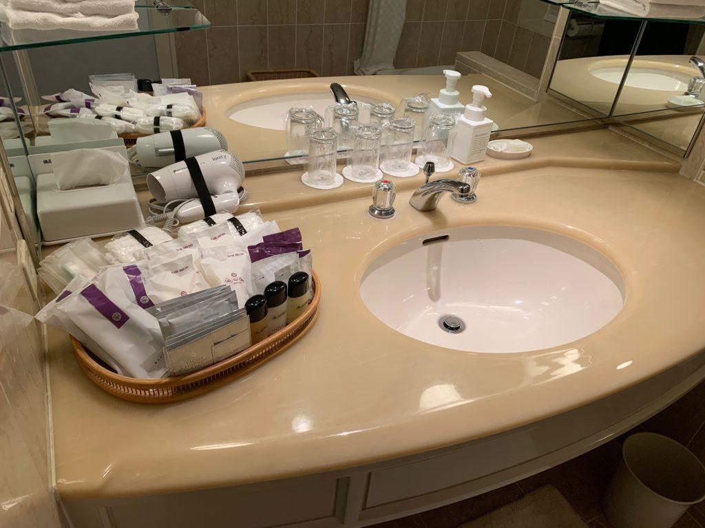 ホテルニューオータニ幕張のスーペリアルームの洗面台