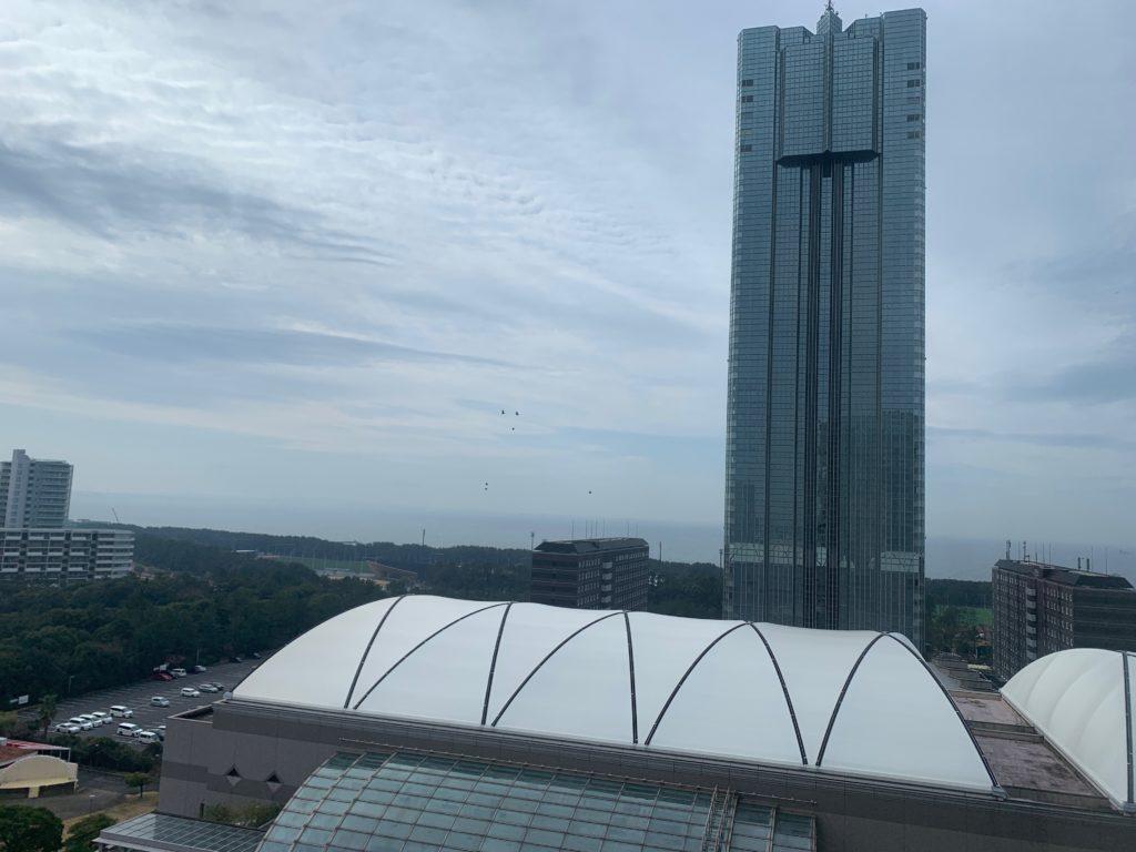 ホテルニューオータニ幕張のスーペリアルームからの眺望