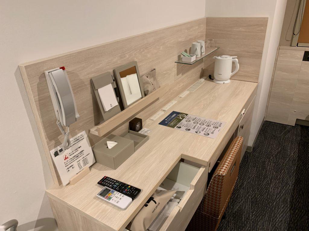 ベッセルイン千葉駅前の客室のシングルルームのデスクスペース