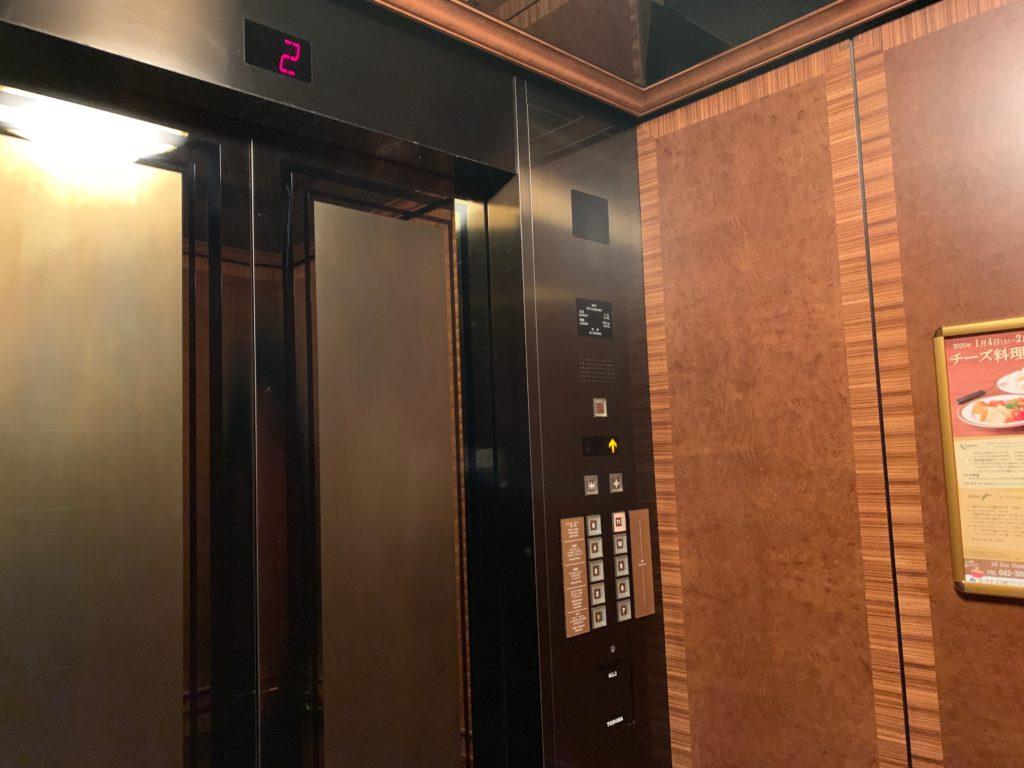 ホテル日航立川のエレベーター
