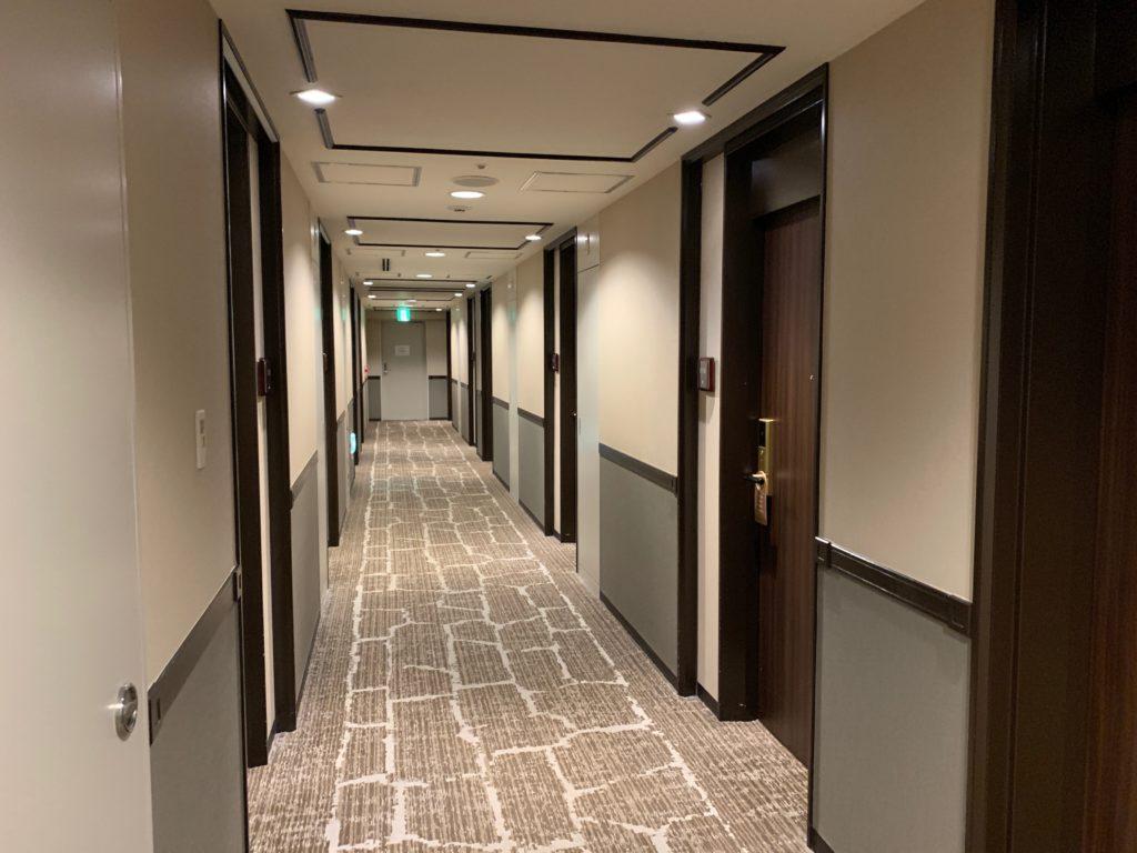 ホテル日航立川の客室通路
