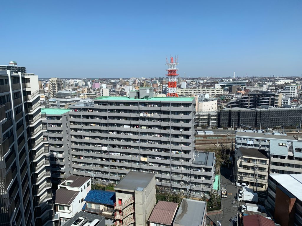 ホテル日航立川の客室からの眺望