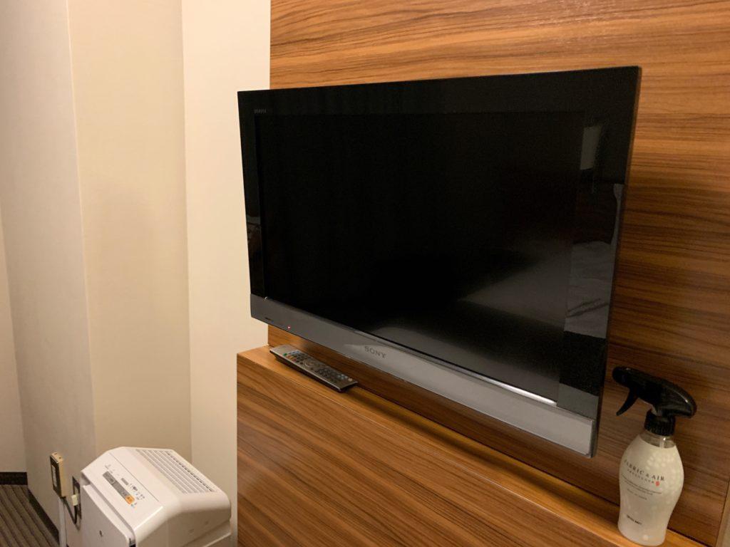 吉祥寺東急REIホテルのダブルルームのテレビ