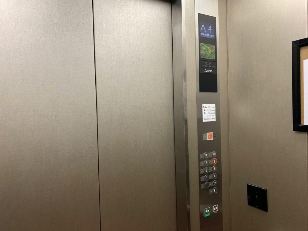 吉祥寺東急REIホテルのエレベータ