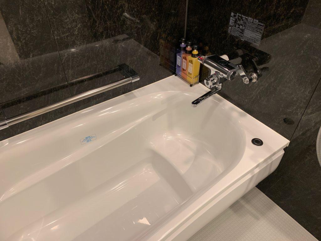 ダイワロイネットホテル千葉中央のハリウッドツインルームのバスタブ